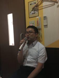 松岡さん熱唱
